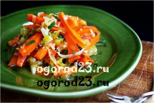 Морковь с луком-пореем
