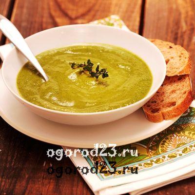 Суп-пюре из лука-порея