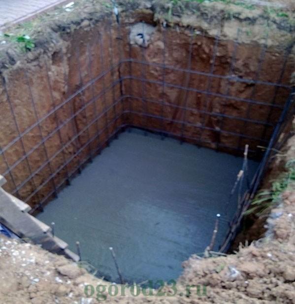 Заливка погреба бетоном своими руками 66