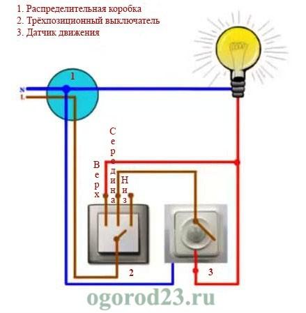 Датчик движения для включения света 4