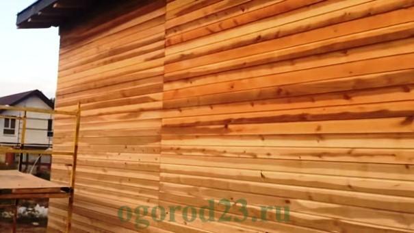 отделка стен деревом 7