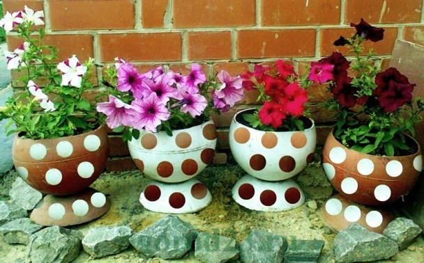 клумбы и цветники своими руками из подручных материалов, фото 20