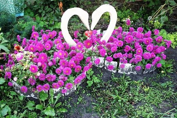 клумбы и цветники своими руками из подручных материалов, фото 17