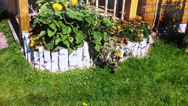 клумбы и цветники своими руками из подручных материалов, фото 14