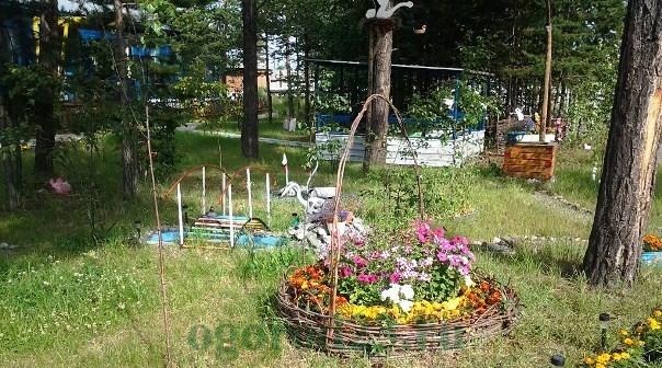 клумбы и цветники своими руками из подручных материалов, фото 19