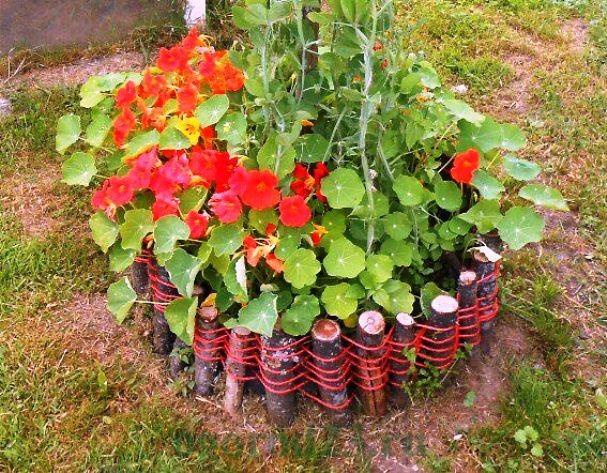 клумбы и цветники своими руками из подручных материалов, фото 13