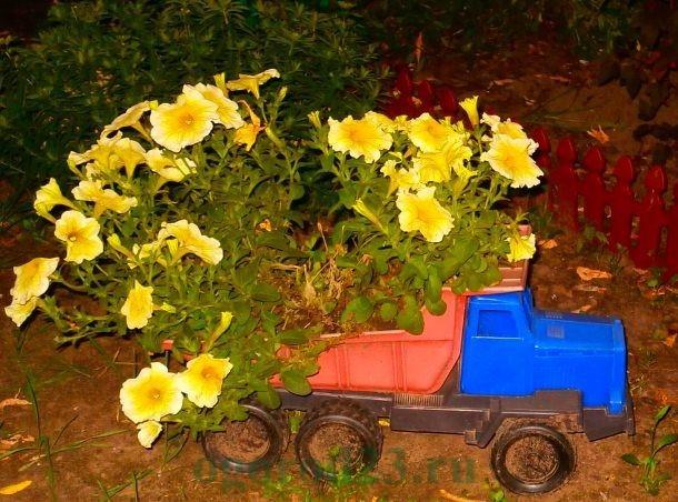 клумбы и цветники своими руками из подручных материалов, фото 29