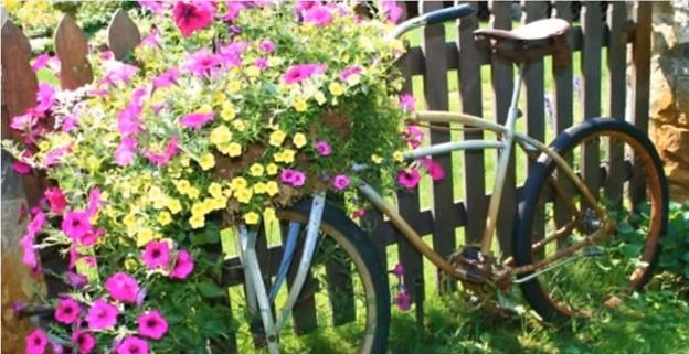 клумбы и цветники своими руками из подручных материалов, фото 5