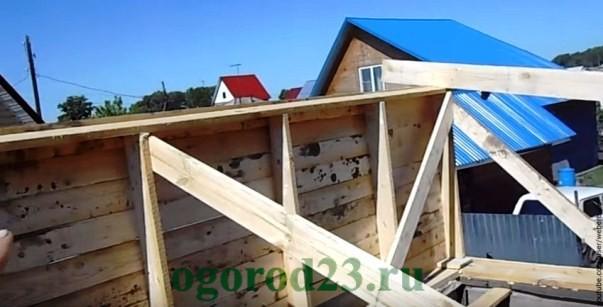 Ворота из деревянных реек