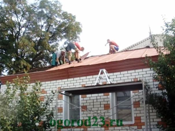 Односкатная крыша своими руками пошагово 4