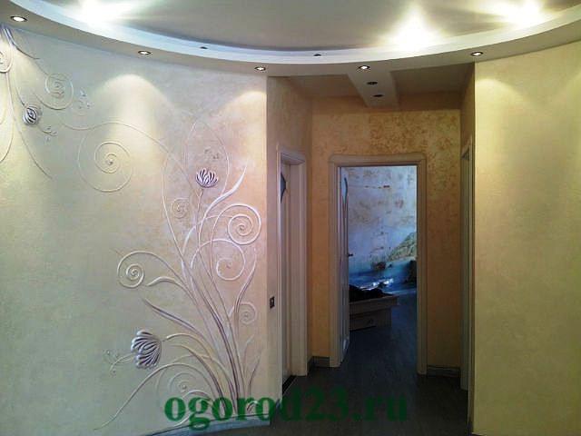 декоративная отделка стен 3