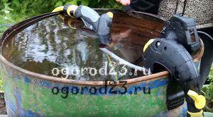 насос для полива из бочки 100